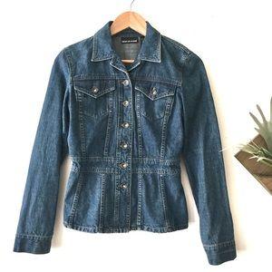 DKNY | Denim Jacket Medium Wash Peplum Style XS